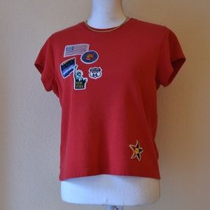 Vintage Tourist Patch Cropped Tee